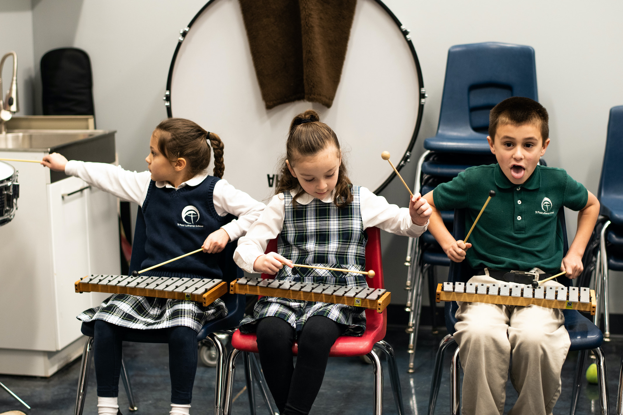 pupils in the music class